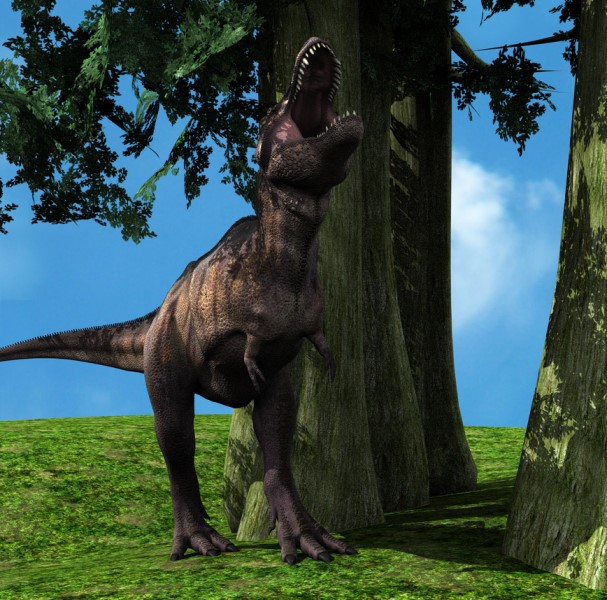 Figure 2: Tyrannosaurus scene (IBL+Distant Light).